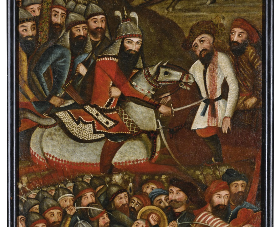 <span class=&#34;artist&#34;><strong>Art of the Islamic World</strong></span>, <span class=&#34;title&#34;><em>A prince conquering the Russian army, Persia, Qajar</em>, early 19th century</span>