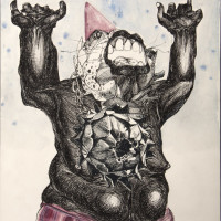 "<span class=""link fancybox-details-link""><a href=""/exhibitions/189/works/artworks4882/"">View Detail Page</a></span><div class=""artist""><strong>Ramtin Zad</strong></div><div class=""title"">Untitled, 2018</div><div class=""medium"">Mixed Media</div><div class=""dimensions"">48 x 34 cm<br>18 7/8 x 13 3/8 in</div>"