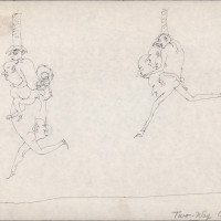 "<span class=""link fancybox-details-link""><a href=""/exhibitions/302/works/artworks9866/"">View Detail Page</a></span><div class=""artist""><strong>Ardeshir Mohassess</strong></div><div class=""title""><em>Two-Way Chase</em></div><div class=""medium"">Pen on Paper</div><div class=""dimensions"">20.8 x 28.8 cm<br>8 1/4 x 11 3/8 in</div>"