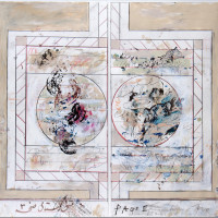 "<span class=""link fancybox-details-link""><a href=""/exhibitions/128/works/artworks4694/"">View Detail Page</a></span><div class=""artist""><strong>Fereydoun Ave</strong></div><div class=""title"">Untitled, 2018</div><div class=""medium"">Mixed Media on Paper</div><div class=""dimensions"">75 x 110 cm<br>29 1/2 x 43 1/4 in</div>"