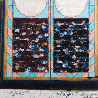 "<span class=""link fancybox-details-link""><a href=""/exhibitions/128/works/artworks4695/"">View Detail Page</a></span><div class=""artist""><strong>Fereydoun Ave</strong></div><div class=""title"">Untitled, 2018</div><div class=""medium"">Mixed Media on Paper</div><div class=""dimensions"">55 x 75 cm<br>21 5/8 x 29 1/2 in</div>"
