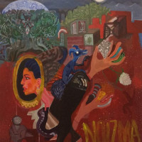 "<span class=""link fancybox-details-link""><a href=""/exhibitions/92/works/artworks2003/"">View Detail Page</a></span><div class=""artist""><strong>Sadra Baniasadi</strong></div><div class=""title"">Untitled, 2016</div><div class=""medium"">Acrylic on Board</div><div class=""dimensions"">70 x 60 cm<br>27 1/2 x 23 5/8 in</div>"