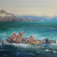"<span class=""link fancybox-details-link""><a href=""/exhibitions/229/works/artworks4226/"">View Detail Page</a></span><div class=""artist""><strong>Ghasemi Brothers</strong></div><div class=""title"">Untitled, 2018</div><div class=""medium"">Acrylic & Oil on Canvas</div><div class=""dimensions"">75 x 100 cm<br>29 1/2 x 39 3/8 in</div>"