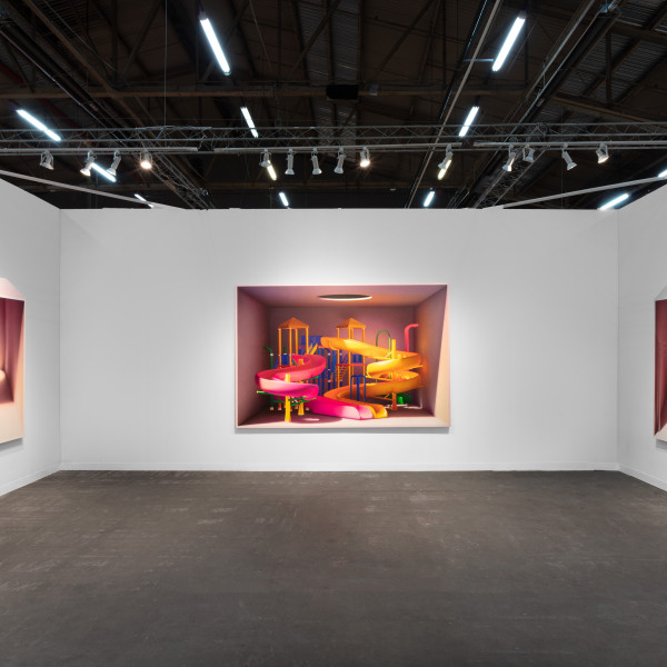 Installation View of Dastan's Basement Booth at The Armory Show 2020. Photo by Sebastiano Pellion