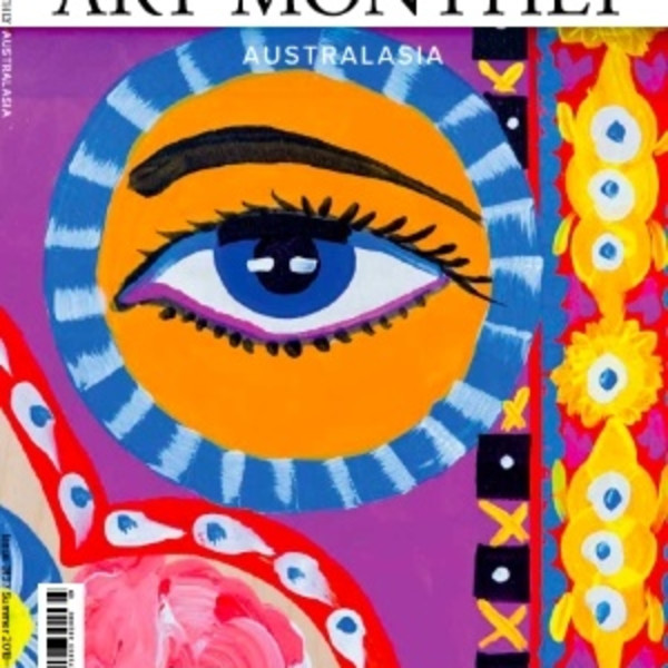 Cover of Art Monthly Australia. Summer 2018/19 Issue 313