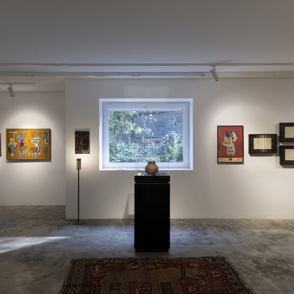 "Installation View of Parviz Tanavoli's ""Virus of Collecting"" at Dastan+2"