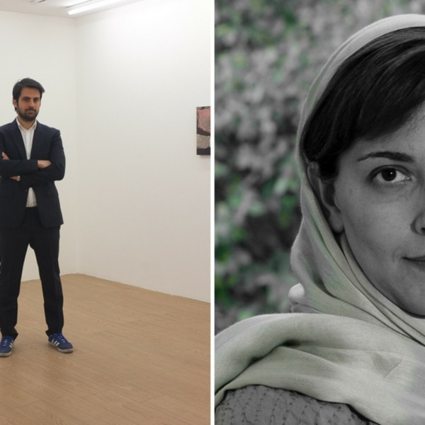 Hormoz Hematian, founder of Teer and Dastan's Basement, and Maryam Majid, founding director of Teer and Assar Art Gallery