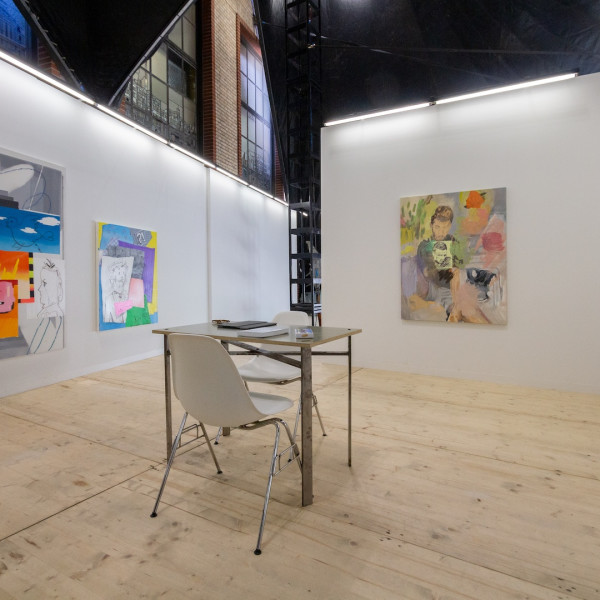 Installation view of Dastan's Basement Booth at LISTE art fair 2019