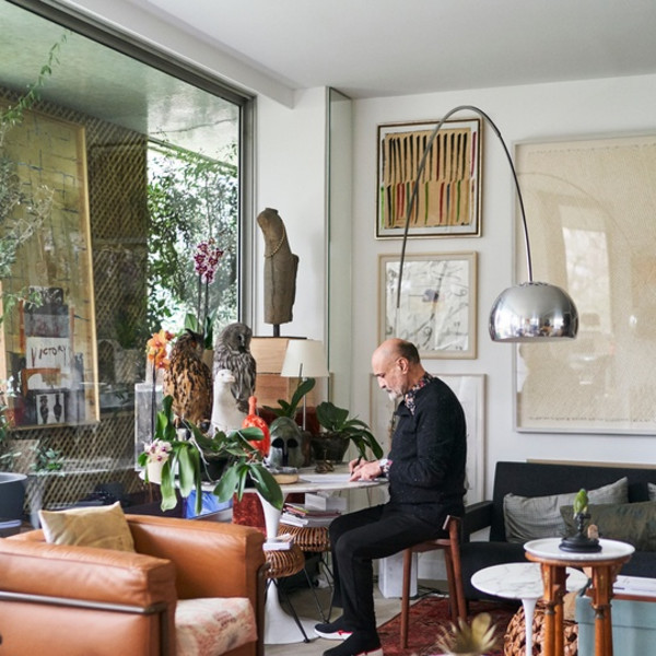 Inside Iranian Artist-Collector Fereydoun Ave's Paris Apartment