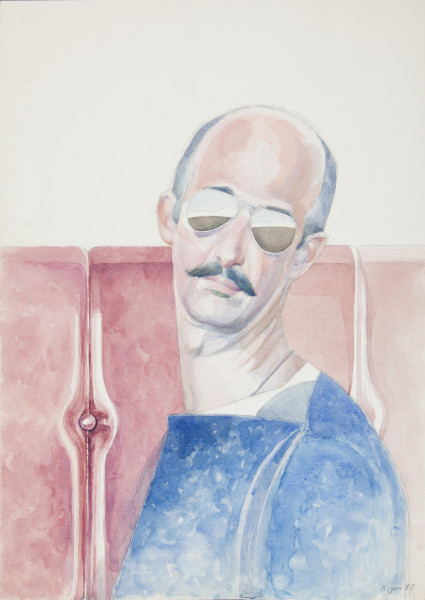 Bijan Saffari, Self-Portrait, 1980
