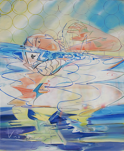 Hoda Kashiha, Swimming and melting, 2017