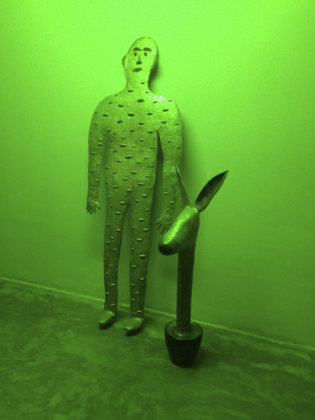 "Amin Akbari, Installation View of ""The Outstanding Gardener"" at Dastan's Basement, 2015"