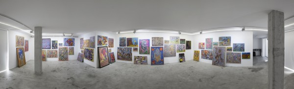 1398 2019 Ali Razghandi Painting Exhibition Dastan S Basement Installation View Lowres 17 Untitled Panorama1