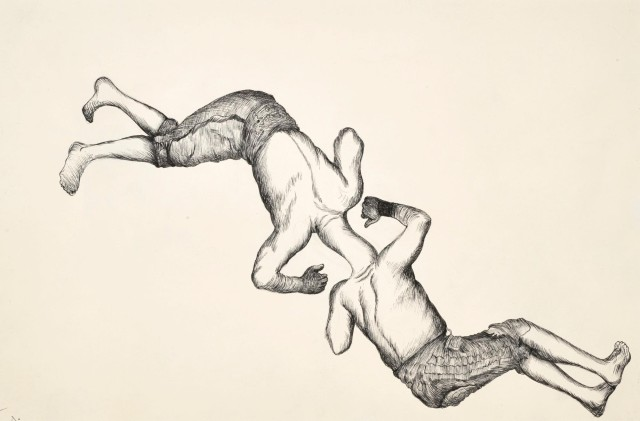 Ardeshir Mohassess. Untitled. Ink on Paper. 31 x 47 cm.