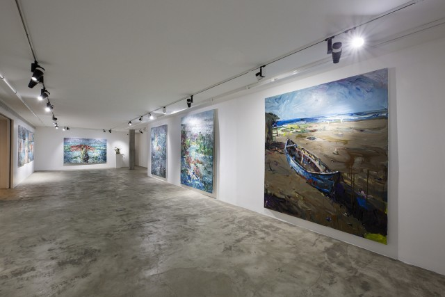 "Installation View of Ghasemi Brothers' ""Big Fish"" at Dastan+2. Photo by Matin Jameie."