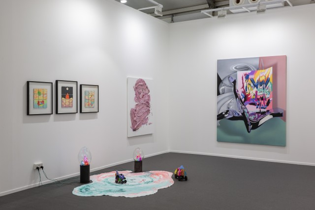 Installation View of Dastan's Basement booth at Art Dubai 2021. Photo by: Ismail Noor / Seeing Things