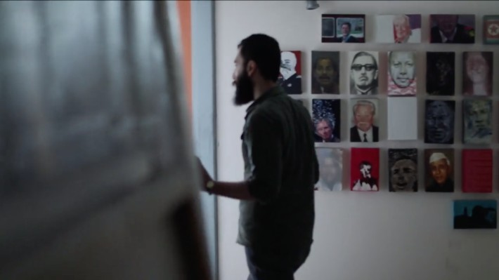 "Aidin Xankeshipour at his Studio in Tehran. Still from the video ""Stillness"" by Alborz Kazemi."