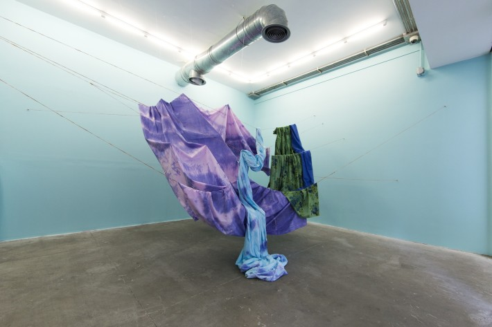 Installation View. Leila Seyedzadeh. Suspended Mountain. Electric Room 04/50. a Dastan:Outside project.